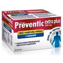 Preventic Extra Plus 500mg 60kapsułek