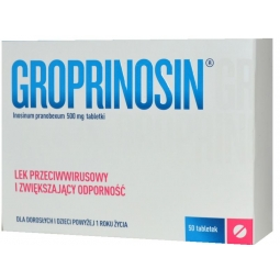 Groprinosin 500mg 50tabletek