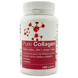 Pure Collagen 650mg - kolagen z ryb morskich z antyoksydantami 100 tabletek