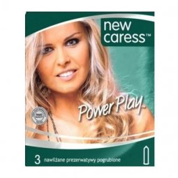 Prezerwatywy New Caress Power Play 3 sztuki