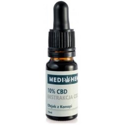 Hemp olejek z konopi CBD 10% CO2 10ml