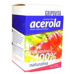 Acerola Gripovita 60tabletek do ssania