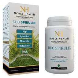Duo Spirulin 120tabletek Noble Health