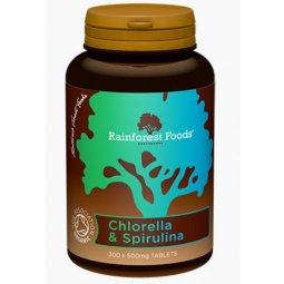 Rainforest Foods Chlorella & Spirulina Bio 300tabletek