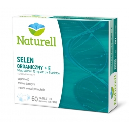 Naturell Selen+E 60tabletek do ssania