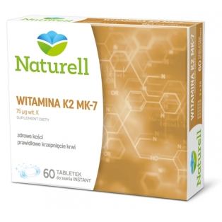 Naturell Witamina K2 MK-7 60tabletek do ssania