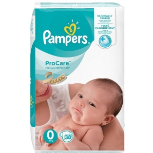 Pampers Procare 0 Pieluchy 1-2,5kg 38sztuk
