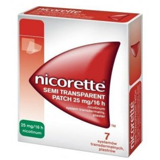 Nicorette Invisipatch (Semi Transparent Patch) 25mg Plastry 7sztuk