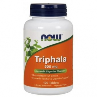 Now Foods Triphala 500mg 120tabletek