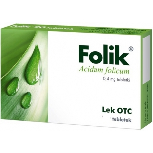 Folik 0,4mg 30tabletek