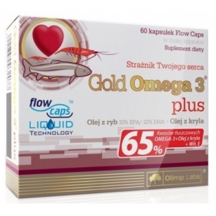 Olimp Gold Omega 3 Plus 60kapsułek