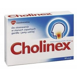 Cholinex 16tabletek do ssania
