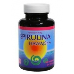 Spirulina hawajska 500mg 100tabletek