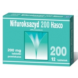 Nifuroksazyd 200mg 12tabletek Hasco