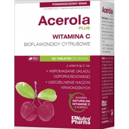 Acerola Plus 60tabletek do ssania