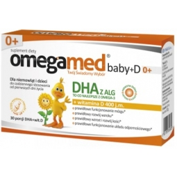 Omegamed Baby+D 0+ witamina D3 30kapsułek twist-off