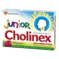 Cholinex Junior o smaku malinowym 16pastylek do ssania