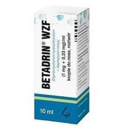 Betadrin WZF krople do nosa 10ml