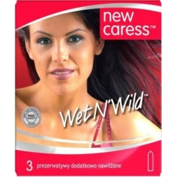 Prezerwatywy New Caress wet n'wild 3sztuki