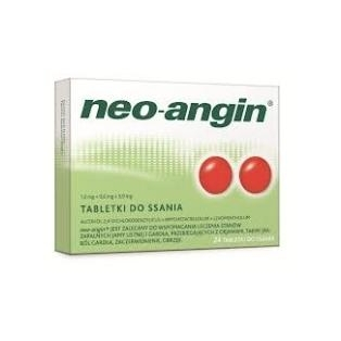 Neo-Angin z cukrem 24tabletki do ssania